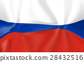 flag of russia 3d render 28432516