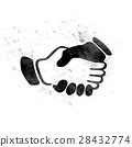 Finance concept: Handshake on Digital background 28432774