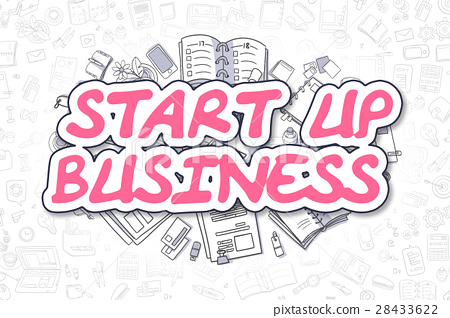 Start Up Business - Cartoon Magenta Text. Business 28433622