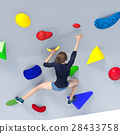 Bouldering image perming3DCG illustration material 28433758