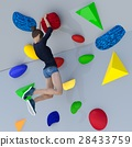Bouldering image perming3DCG illustration material 28433759