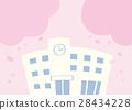 학교와 벚꽃 28434228