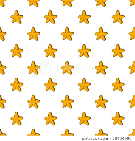 Five Pointed Star Pattern Cartoon Style