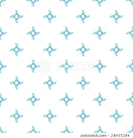 Ninja shuriken pattern, cartoon style 28435284