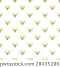 Crossed tridents pattern, cartoon style 28435290