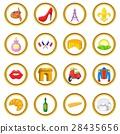 france, icon, set 28435656