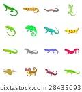 lizard, icon, cartoon 28435693