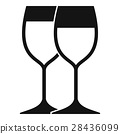 wine, glasses, icon 28436099