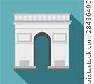 Triumphal Arch icon, flat style 28436406