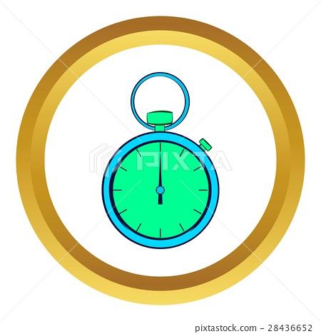 Pocket watch vector icon, cartoon style 28436652