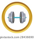 cartoon dumbbell icon 28436690