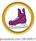 Ice hockey skates vector icon, cartoon style 28436917