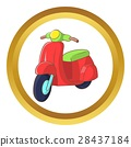 Red scooter vector icon 28437184