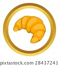 croissant, icon, vector 28437241