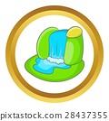 Mountain waterfall vector icon 28437355