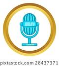 Retro microphone vector icon 28437371