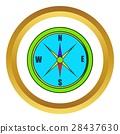 cartoon, compass, icon 28437630