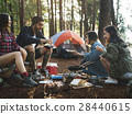 Friends Camping Eating Food Concept 28440615