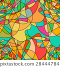 Seamless pattern with abstract swirling colorful 28444784