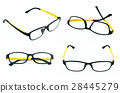 Set of black and yellow light weight eyeglasses 28445279