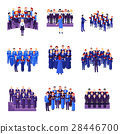 Choir Singing Ensemble Flat Icons Collection  28446700