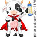 奶牛 卡通 姿勢 28447876