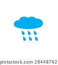 rain, rainy on white background. rainy sign. 28448762