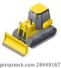 Bulldozer detailed icon 28449167