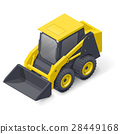 Skid steer mini loader icon 28449168