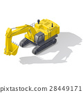 Modern quarry tracked excavator icon 28449171