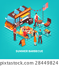 summer, isometric, barbecue 28449824