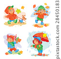 set of icons small children 28450183