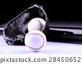 American Baseball. Ball and glove 28450652