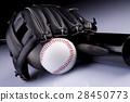 American Baseball. Ball and glove 28450773