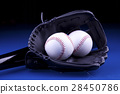 American Baseball. Ball and glove 28450786
