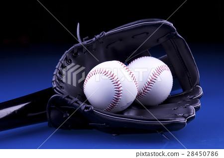 American Baseball. Ball and glove 28450786