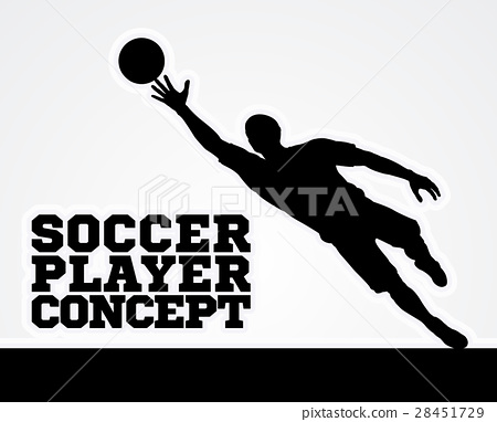 Concept Silhouette Soccer Football Player 28451729