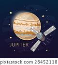Planet Jupiter and spacecraft, vector illustration 28452118