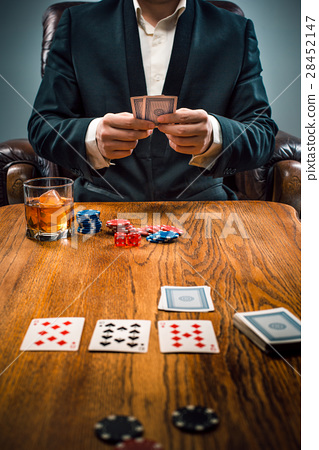 The chips for gamblings, drink and playing cards 28452147