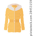 Woman Down Jacket Flat Style Vector Illustration 28453159