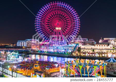 夜景 摩天轮 横滨摩天轮 28455777