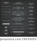 Chalkboard Ornaments And Decorations Set 28456043