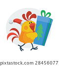 rooster, gift, cartoon 28456077