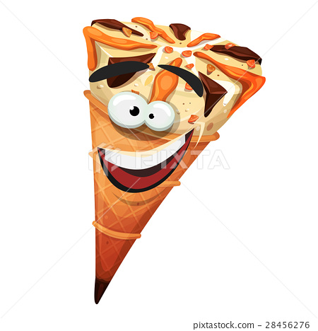 Ice Cream Cone Character 28456276