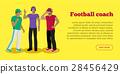 Football Coaches Web Banner Cartoon Soccer Referee 28456429