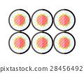 Sushi Illustration. Flat Design. Japan Food Vector 28456492
