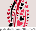 Happy Valentine's Day background with hearts 28456524