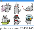 cat humor characters set 28458445