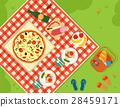 summer picnic in park banner 28459171
