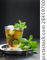 Mint Julep cocktail with bourbon, ice and mint 28459700
